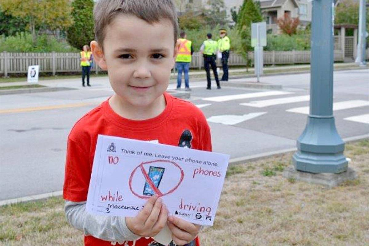 Police, volunteers to deliver South Surrey students' road-safety messages